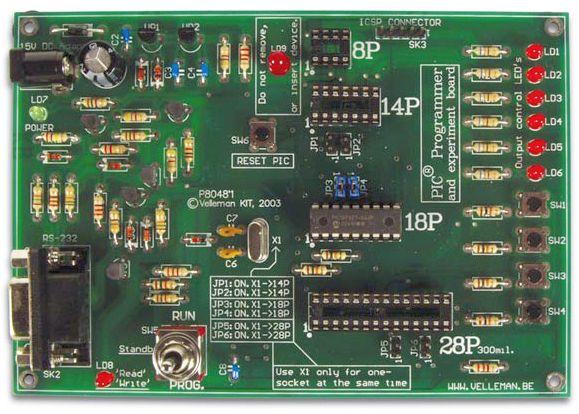 Velleman K8048 PIC Programmer Experimenter Board Kit